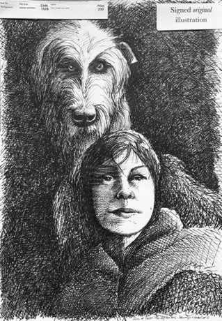 'Llewelyn and Gelert 3' From 'The Dog Hunters'. $NZ200 (approx $US133, £102, €112)